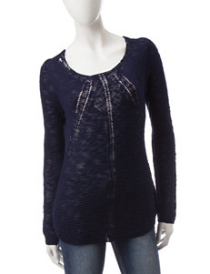 Pink Rose Navy Pull-overs