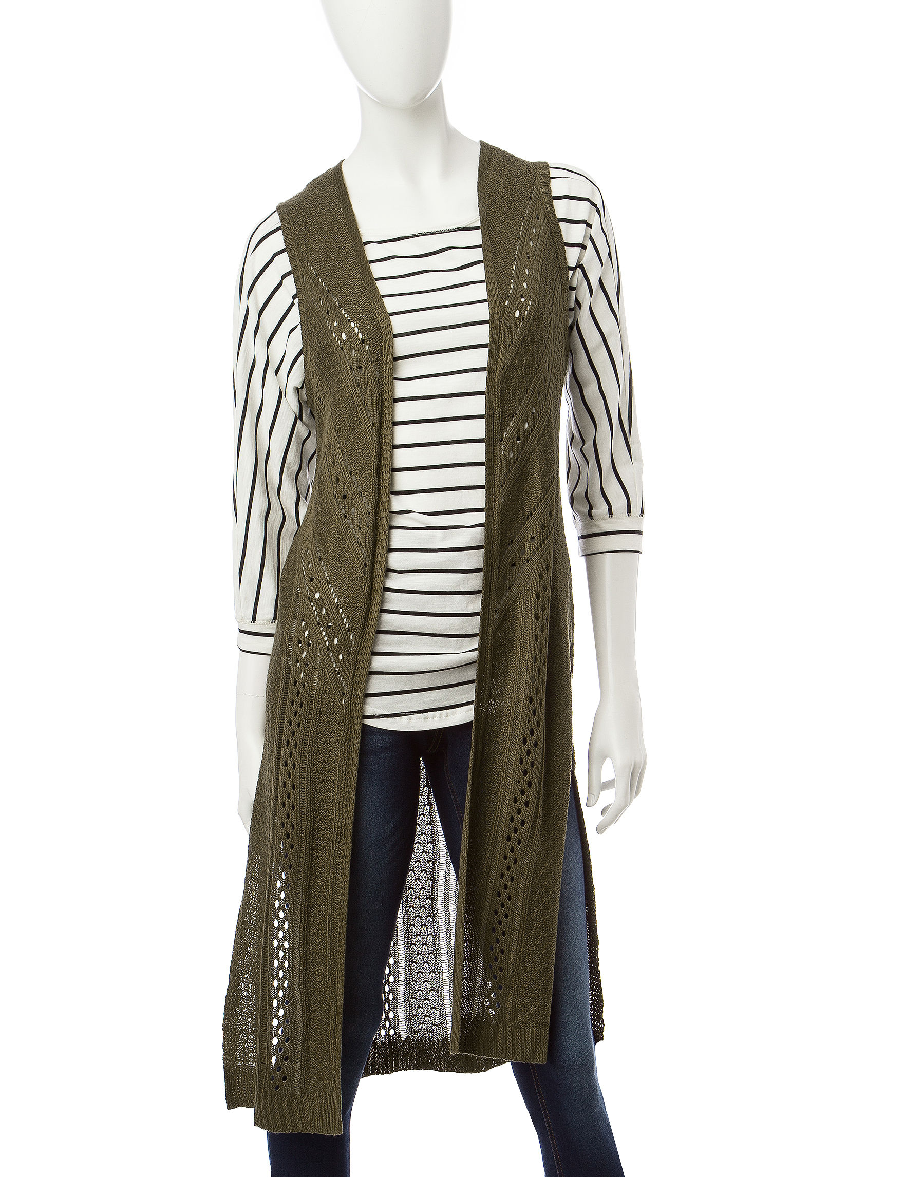 It's Our Time Olive Cardigans Sweaters Vests