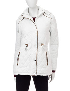 YMI White Puffer & Quilted Jackets
