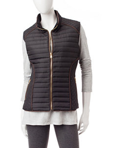 YMI Black Puffer & Quilted Jackets Vests