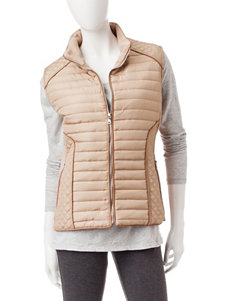 YMI Tan Quilted Vest