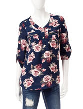 Wishful Park Multicolor Floral Print Top