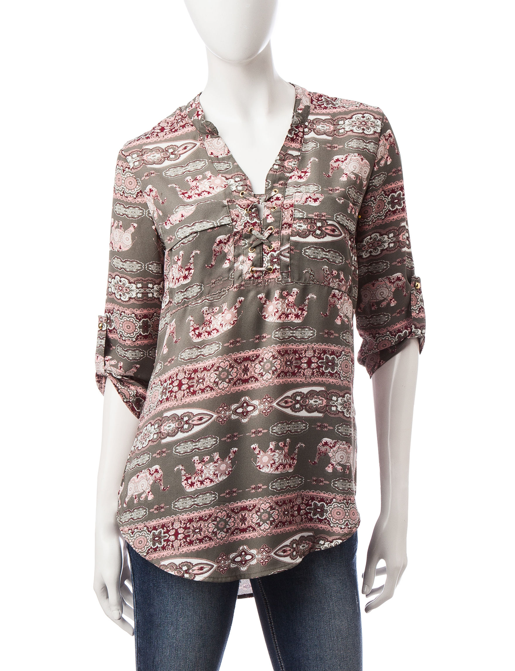 Wishful Park Olive Pull-overs Shirts & Blouses