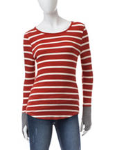 Wishful Park Red & White Striped Top