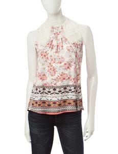 Taylor & Sage Oatmeal Heather Shirts & Blouses