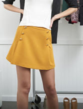 XOXO Gold Jacquard Knit Skirt