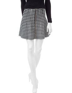 XOXO Houndstooth Print Skirt