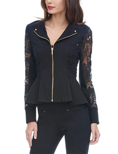 XOXO Black Lace Peplum Jacket