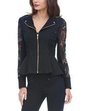 XOXO Black Lace Peplum Jacket