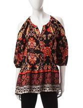My Michelle Multicolor Floral Print Top