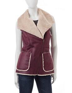 My Michelle Faux-Suede Burgundy Vest