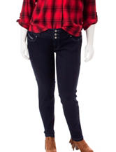 Amethyst Plus-size Dark Wash High Waisted Jeans