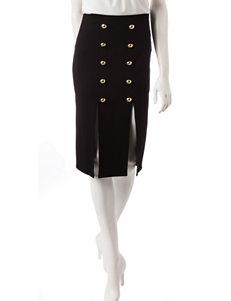 XOXO Black Military Pencil Skirt