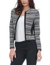 XOXO Black & White Jacquard Knit Jacket