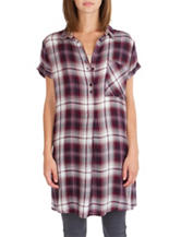 Union Bay Multicolor Plaid Print Top