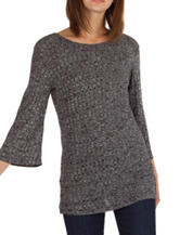 Union Bay Black Ribbed Knit Top