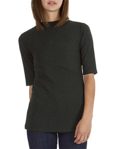 Union Bay Green Ribbed Top