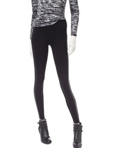 Kenzie Black Quilted Faux Leather Panel Leggings