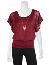 A. Byer Burgundy Top