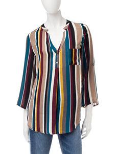 Heart Soul Ivory Multi Shirts & Blouses