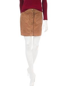 Heart Soul Camel Corduroy Skirt