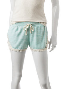 Inspired Hearts Mint Lace Detail Shorts