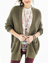 Ultra Flirt Green Cardigan