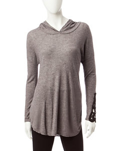 Miss Chevious Grey Hooded Top