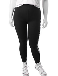 "Junior Plus-size Black ""I'm The Boss"" Leggings"