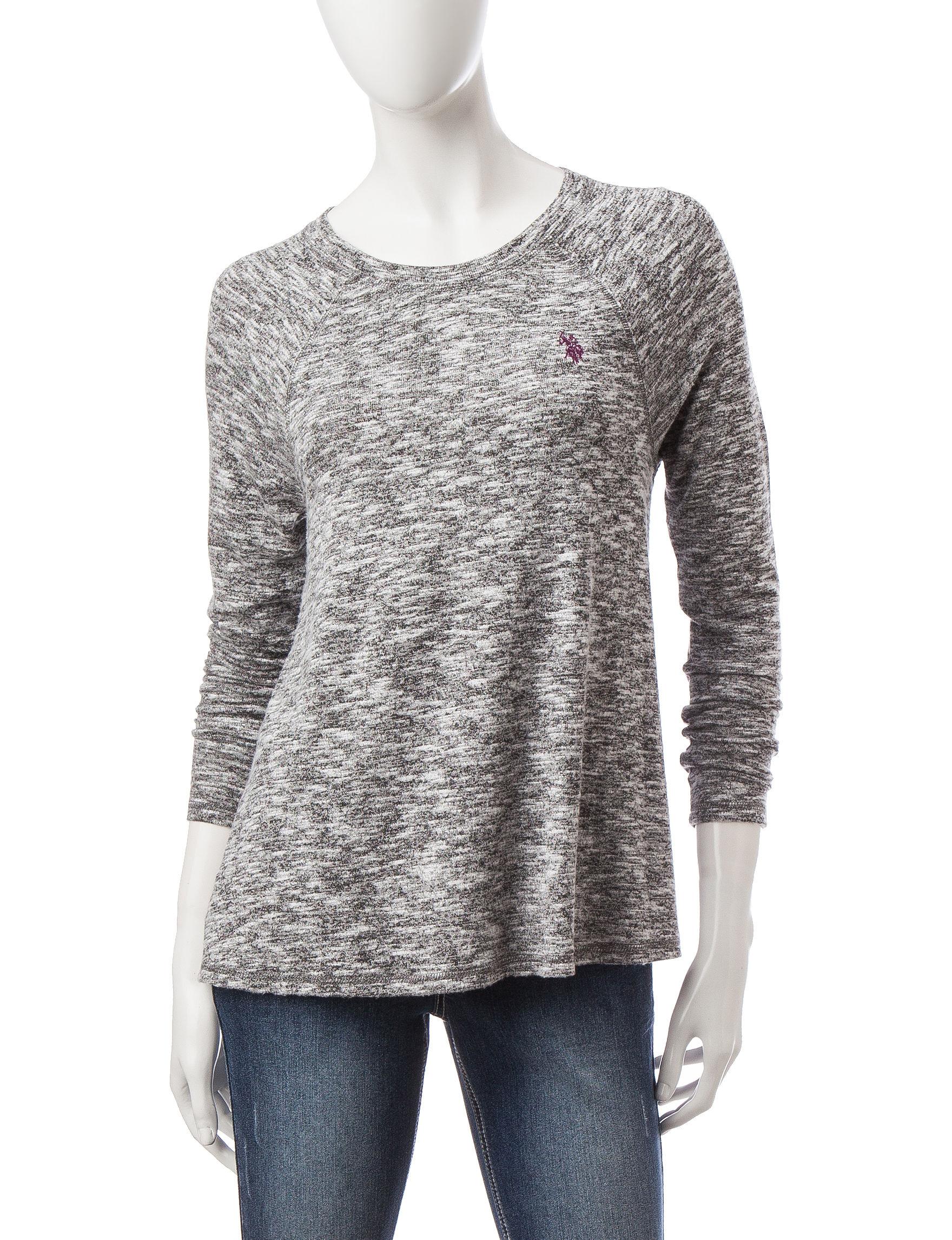 U.S. Polo Assn. Dark Grey Pull-overs Sweaters