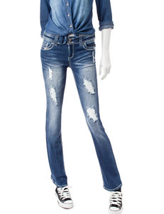 Almost Famous Embroidered Bootcut Jeans