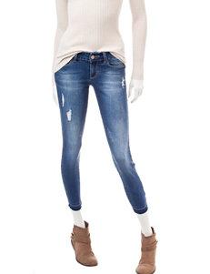 YMI Dark Wash Destructed Skinny Jeans
