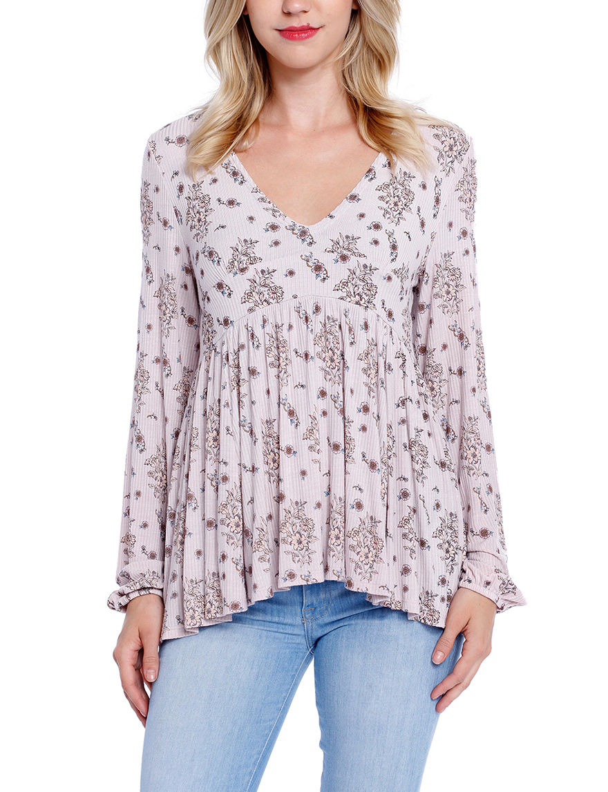 Taylor & Sage Light Pink Shirts & Blouses