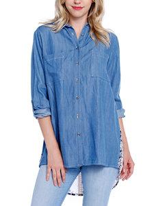 Taylor & Sage Indigo Shirts & Blouses