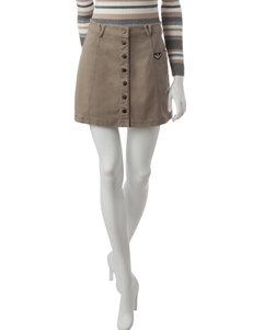 BeBop Tan Button Front Skirt