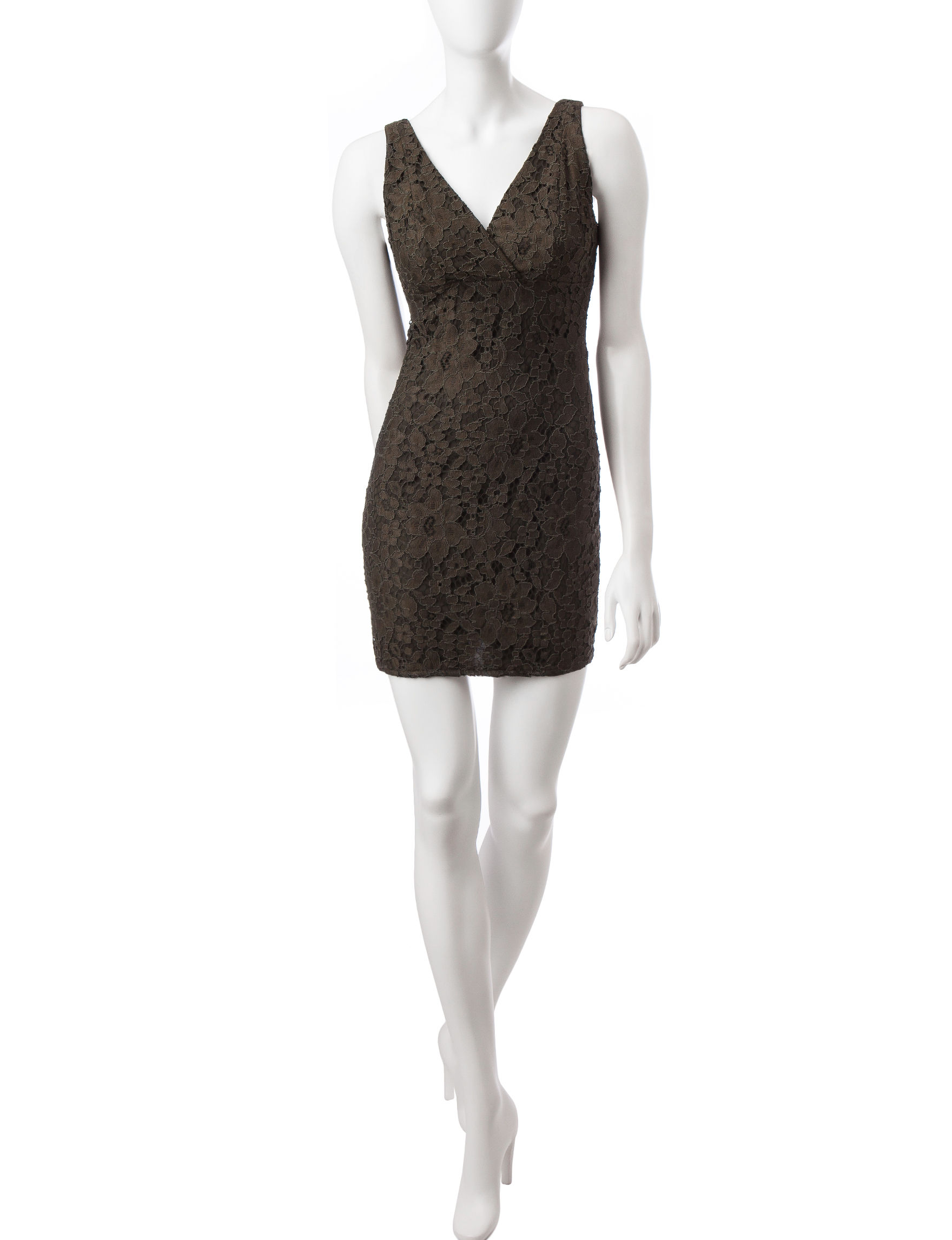 Romeo + Juliet Couture Olive Cocktail & Party Sheath Dresses