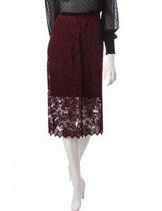 Romeo + Juliet Couture Maroon Lace Skirt