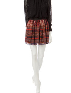 Romeo + Juliet Couture Multicolor Tribal Print Skirt