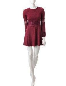 Romeo + Juliet Couture Maroon Cocktail & Party Fit & Flare Dresses