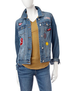 Almost Famous Medium Wash Denim Jackets