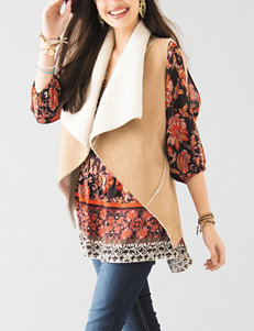 Heart Soul Taupe/Ivory Vests