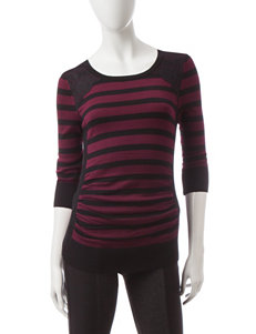 A. Byer Dark Red Pull-overs