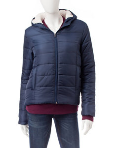 Justify Navy Puffer & Quilted Jackets