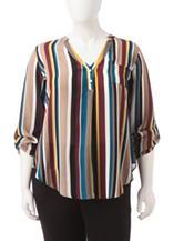 Heart Soul Multicolor Stripe Top