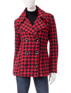 Rampage Red / Black Peacoats & Overcoats