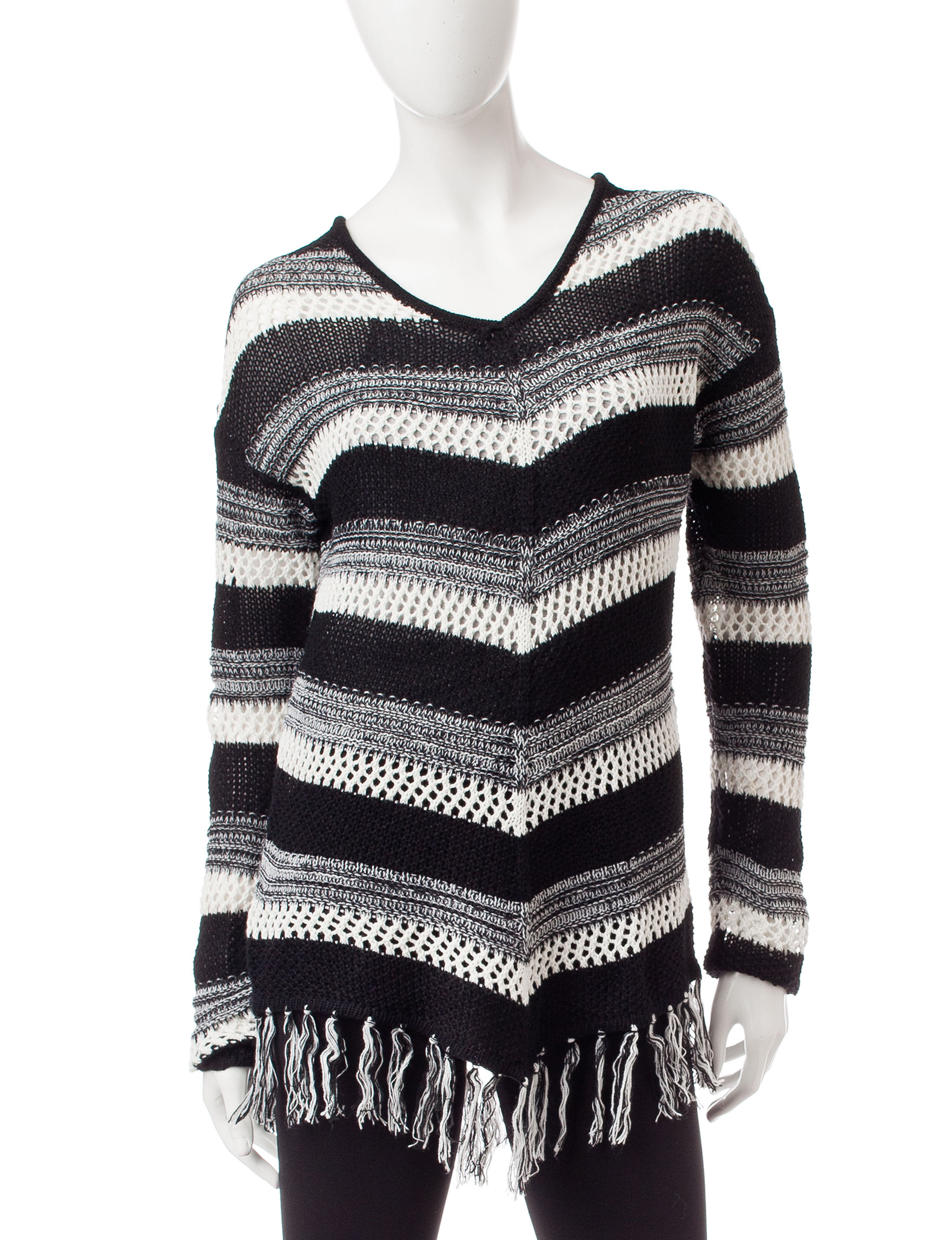 It's Our Time Black / Cream Pull-overs Sweaters
