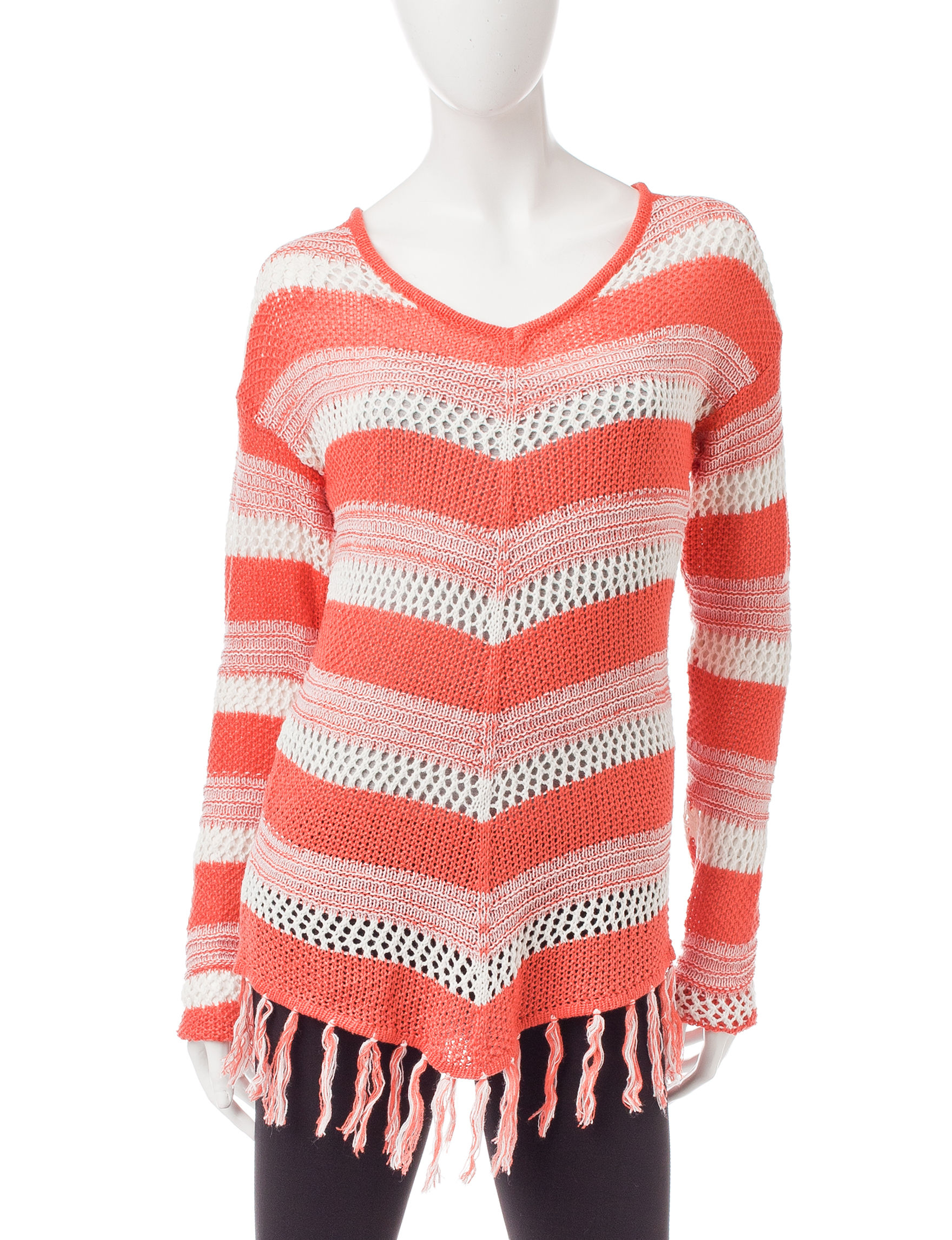 It's Our Time Bright Red Pull-overs Sweaters