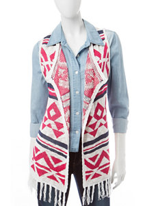 It's Our Time Multicolor Abstract Print Vest