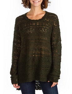 Union Bay Green Open Knit Sweater