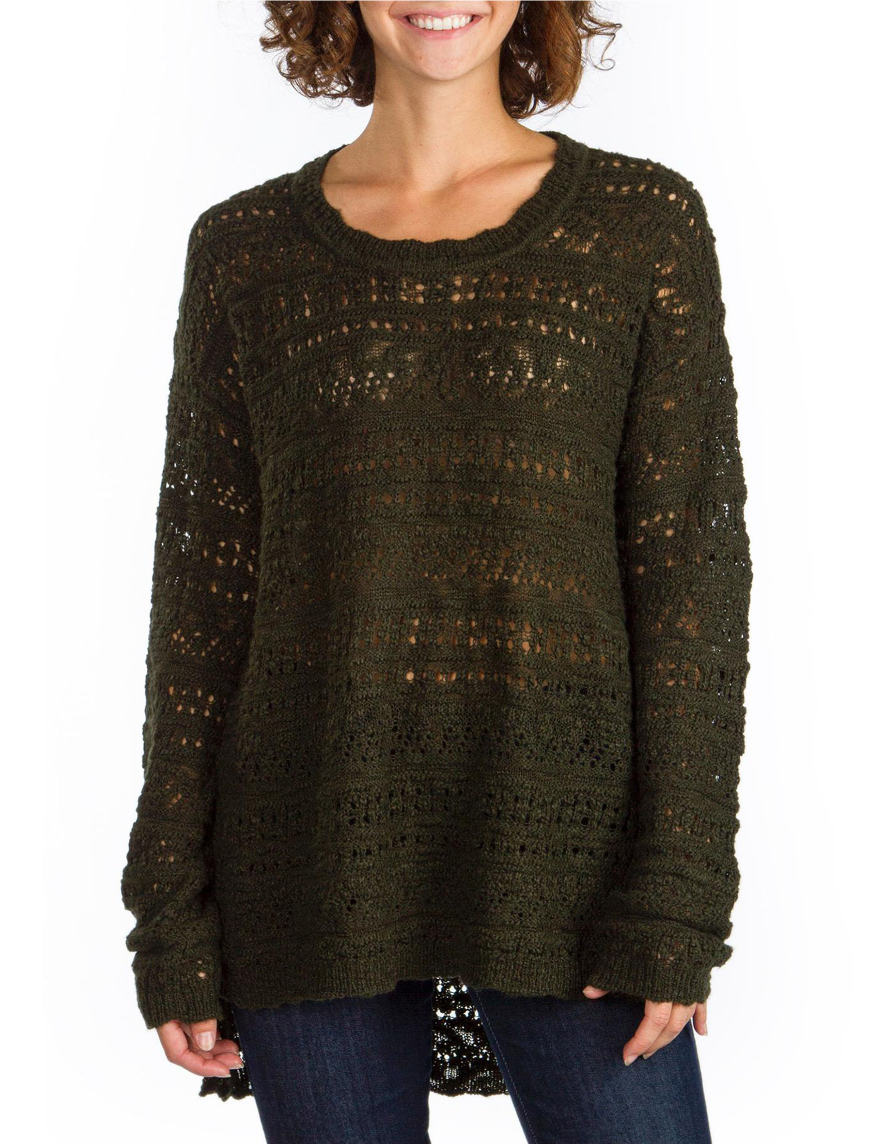 Union Bay Green Pull-overs Sweaters